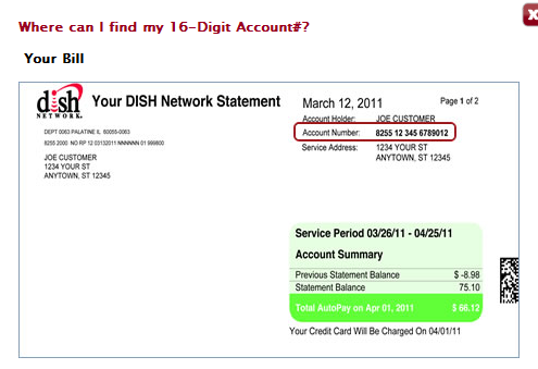 dish network account